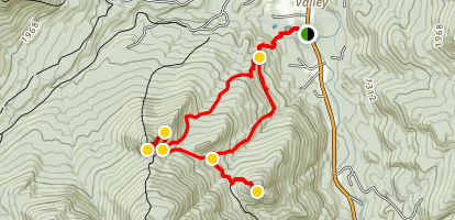 Rooster Comb and Snow Mountain Loop Trail Map