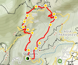 Stayates-Makrinitsa Loop Trail Map