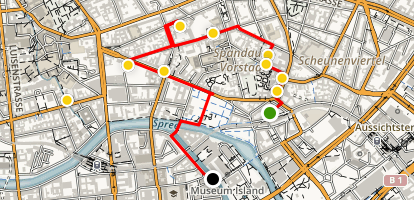 Graffiti and Hip Galleries in Mitte Map