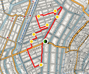 Jordaan Neighborhood Walking Tour Map