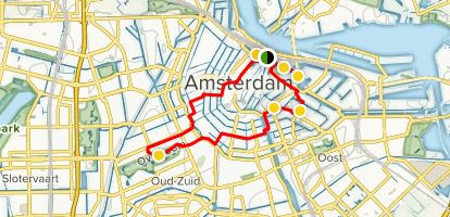 A Family Tour of Amsterdam on Bicycles Map