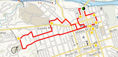 Downtown Redding - Historical Route Map