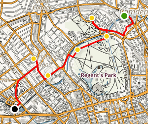 Camden Walking Tour: Primrose Hill, Regent's Park and Abbey Road Map