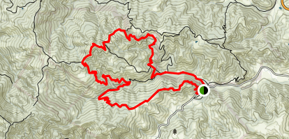 Mayfair Ranch Trail to Serpentine Loop Trail Map