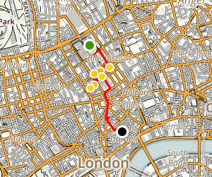 Bloomsbury and British Museum Walking Tour Map