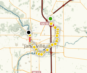 Ice Age Trail: Janesville Map