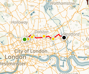 London's Olympic Sites Map