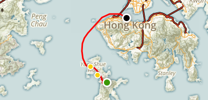 Lamma Island Hike and Ferry Map