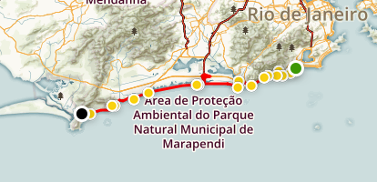 Beaches of Rio Map