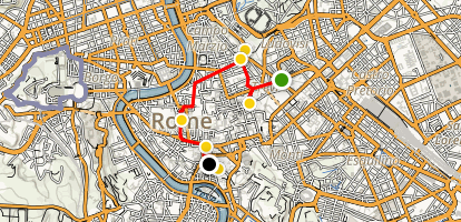 Rome Fountains Walking Tour Map
