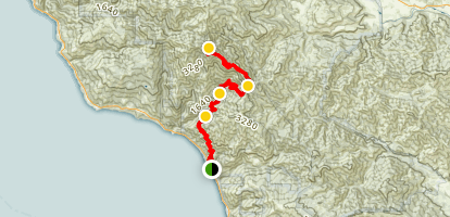 Highway 1 to Cone Peak Map