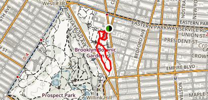 Brooklyn Botanical Gardens Map