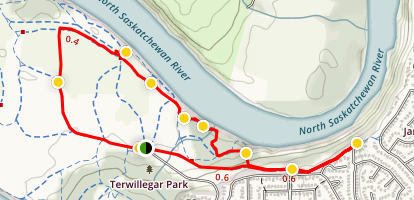 Terwillegar Park East Loop Trail Map