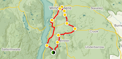 Windermere and Bowness Map