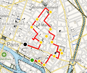 Marais Walking Tour Map