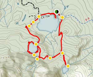 Three Lakes Trail Map
