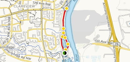 Hermitage Park Off Leash Area Trail Map