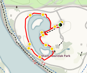 William Hawrelak Park Inner Loop Map