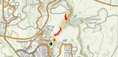 Mitchell Creek Canyon Trail Map