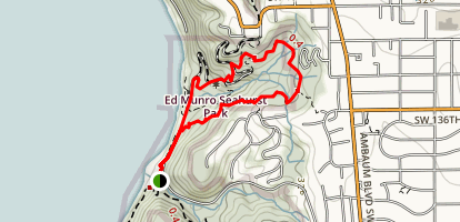 Seahurst Park Loop Trail Map