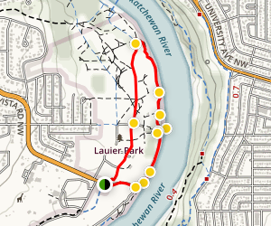 Buena Vista Park Riverside Stroll and Dock Map