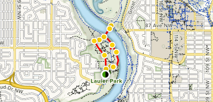Laurier Park and Bridge Walk Map