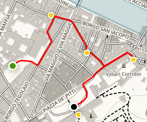 The Santo Spirito Neighborhood Walking Tour Map