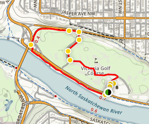 Victoria Park West Trail Map