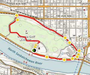Victoria Park East Trail Map