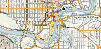 Irene Parlby Park Trail Map
