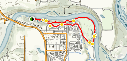 Devon Voyager Park East Loop Trail Map