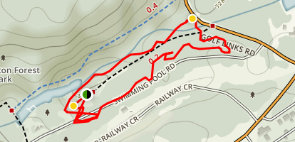 Pemberton XC Skills Loop and Jump Track Map