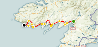 Donegal Bay Scenic Drive Map