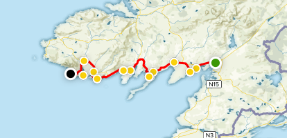Donegal Map Of Ireland.Donegal Bay Scenic Drive County Donegal Ireland Alltrails