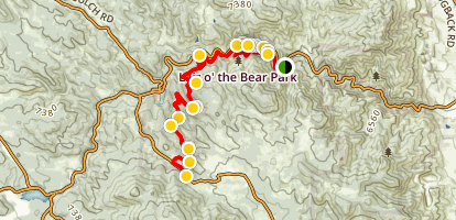 Lair O' the Bear Trail Map