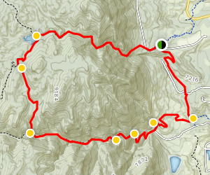 West Monument Creek Loop Trail Map