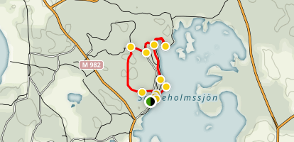 Snogeholm Lake Trail Map