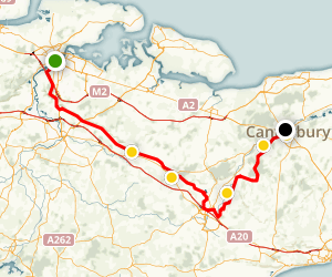 Pilgrims Way Cycle Trail Map