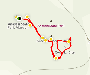 Anasazi Indian Coombs Site Loop Map