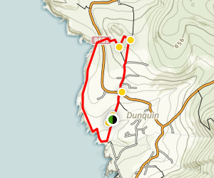 Dun Chaoin Coastal Loop Map