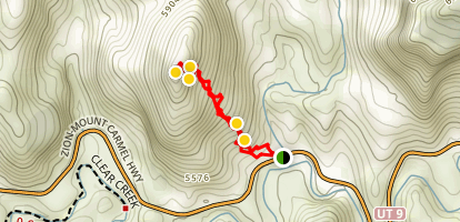 South Ariel Peak Trail Map