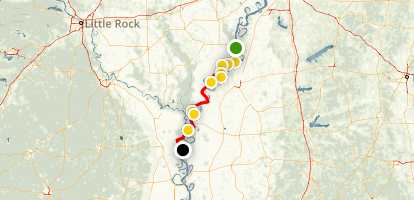 Kayaking the Lower Mississippi Water Trail Map
