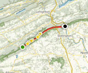 Appalachian Trail: PA 309 to Lehigh Gap Map