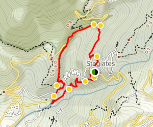 Stagiates and Koukourava Loop Trail Map