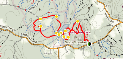 Beebe Pond Trail Map