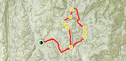 Payette National Forest ATV Loop from Ruby Meadows Map