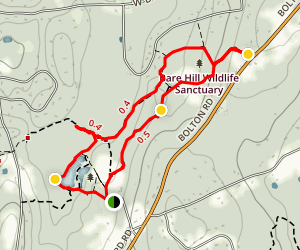 Bowers Spring and Bare Hill Trail Map