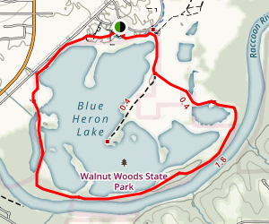 Blue Heron Lake Loop Trail Map