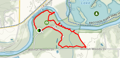 Walnut Woods Racoon River Trail Map