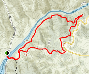 Independence Flat Loop Trail Map